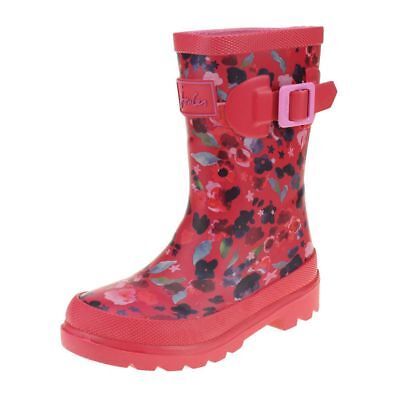 Joules Inky Ditsy Welly Girls Deep Pink Wellington Boot size uk kids children