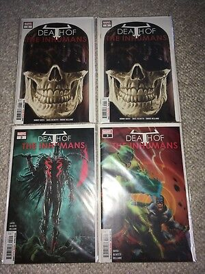 Marvel Death Of The Inhumans 1-3 Nm Lot Set Extra