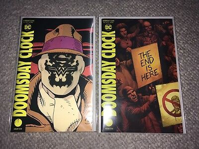 Dc Doomsday Clock 1-6 Plus Lenticular #1 Set Lot Nm