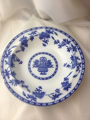 Delft Vintage Blue and White Dinner Soup Desert Bowl 24cm Delft England Mintons