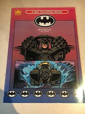 BATMAN RETURNS COLORING BOOK Uncolored Vtg 1992 DC Penguin ...