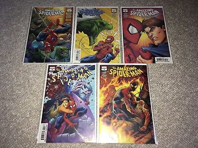 Marvel The Amazing Spider-Man #1-5 Nm Lot Set Spencer