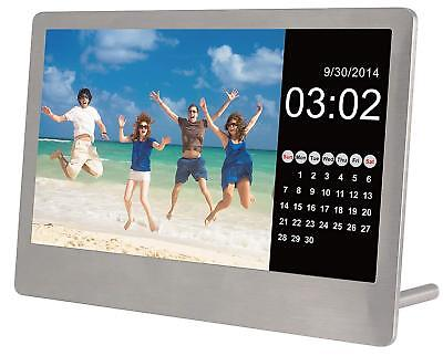 "Sylvania  Digital Photo Frame Clock Calendar 7"" - SD/SDHC/MMC A2812 SDPF7977"