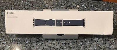 New SEALED Genuine Apple  Watch Band 38mm Midnight Blue Leather - Authentic
