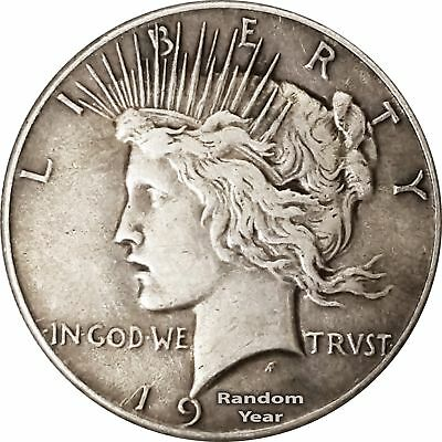 Random Year 1927-1935 $1 Peace Silver Dollar Average Circulated