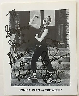 "Jon Bowman(""bowzer"")Former Member Of Sha-Na-Na,signed 8 X10 B&w Publicity Photo"