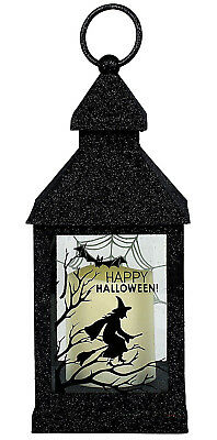 Dept56~Jim Shore~Witch~Broom~Bat~Glittered Lantern~Led Candle~Halloween~6002882