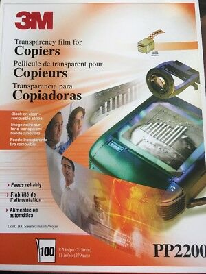 """3M Transparency Film 8.5"""" X 11"""" PP 2200 88 Sheets for copiers"""