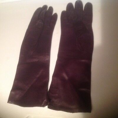 Gloves Saks Fifth Avenue Leather Size 7 1/2 Brown