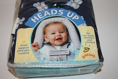 Gold Bug Infant Head Support for Car Seats Strollers Carriers Swings Blue Boys