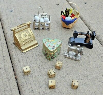 doll house miniatures lot