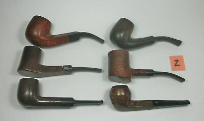 w2 Vintage Lot of Six Tobacco Smoking Pipes. Assorted Brands. Pre-owned.