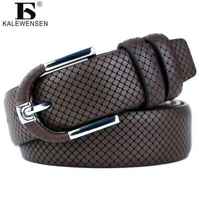 Men's fashion100% Genuine Leather belts for men High quality metal pin buckle St