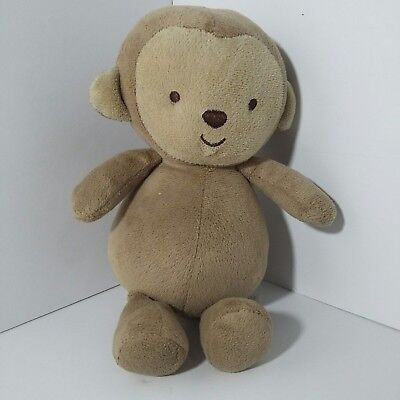 "Carters Child Of Mine Brown Tan Monkey 8"" Plush Rattle Crinkle 63221 Lovey"
