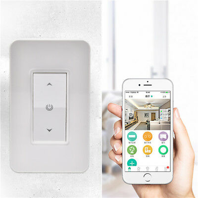 WIFI Smart Wall Panel Touch Light Dimmer APP/Voice Control Work For Alexa/Google