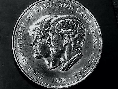 1981 HRH The Prince of Wales and Lady Diana Spencer Commemorative Large Coin