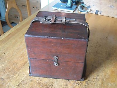 Marine Chronometer Leather Belt Only For A Ships Deck Watch Outer Carrying Box