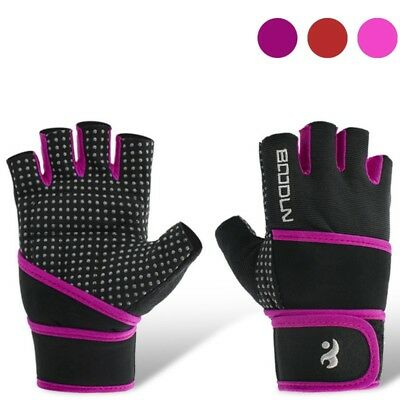 Weight Lifting Gym Gloves Workout Fingerless Wrist Wrap Sports Fitness Training