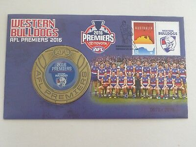 2016 AFL Premiers Western Bulldogs Medallion Cover PNC - Limited 0075 / 2016