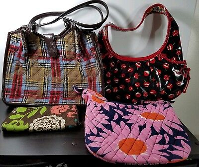 Vera Bradley Handbag/Wallet Bundle--All With Flaws