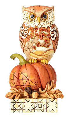 Jim Shore~Harvest Owl On Pumpkin~Whoo Loves Autum~Fall~Heartwood Creek~6001542