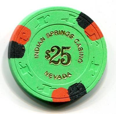 Nv INDIAN SPRINGS $25 Casino Chip 1st issue CR#N2456 Low Book $50