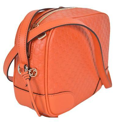 69c9c8c1220b NEW Gucci 449413 Sun Orange Leather Micro GG Guccissima BREE Crossbody  Purse Bag