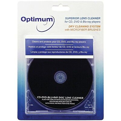 Lens Dry Cleaning System With Microfiber Brushes For CD DVD & Blu-ray™ Players