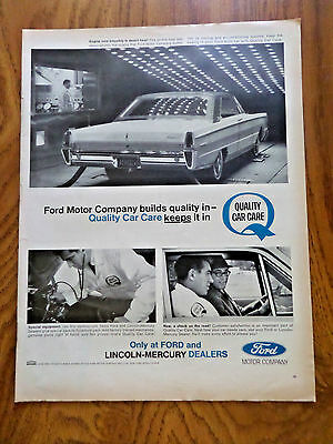 1965 Ford Lincoln Mercury Ad Quality Car Care Severe Heat Test