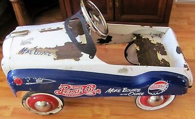 "VINTAGE PEPSI COLA PEDAL CAR RIDE ON TOY /SODA ""More Bounce For The Ounce"""