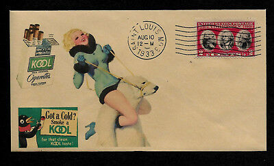 1933 Kool Cigarettes & Pin Up Girl Featured on Collector's Envelope OP569