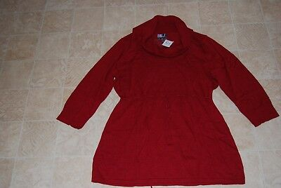 Motherhood Maternity Red Cowl Neck Tunic Sweater ~ Size 1X ~ Msrp $58.00 ~ Nwt!