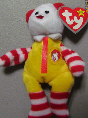531422b4534 Ronald McDonald The Bear 2004 Ty Teenie Beanie Baby 25 Years Of Happiness