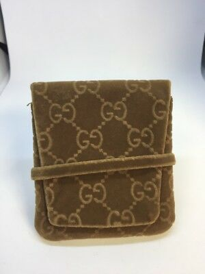 GUCCI Jewelry Pouch Small  envelope GG Dust Bag for earrings necklace Bracelet