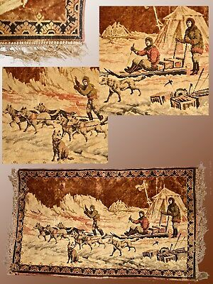 Sled Dog Tapestry From The Golden Age Of Polar Exploration (Eary19O0's To1940's)