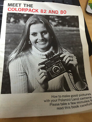 Original Instructions for POLAROID Colorpack 82 & 80 Land camera