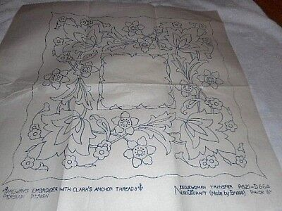 Vintage Embroidery Iron on Transfer-Briggs No.621-D664-Persian Design - Flowers