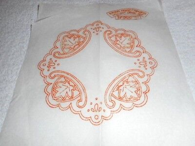Vintage Embroidery Iron on Transfer - Briggs No. 9667 - Leaves