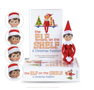 The Elf on the Shelf® A Christmas Tradition includes one Scout Elf and Book