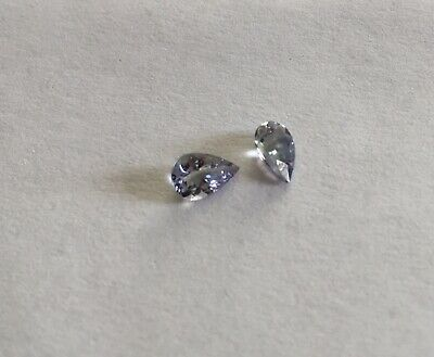NATURAL Tanzanite Pears 0.75cts Blue Green 6x4mm Genuine Eye Clean Stones