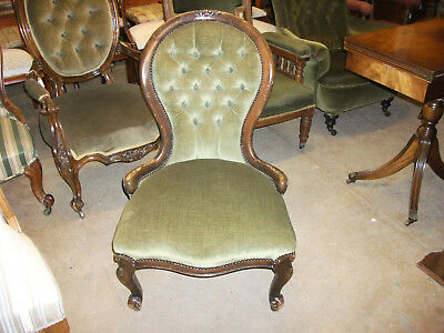 385 - Victorian mahogany Button Back Chair
