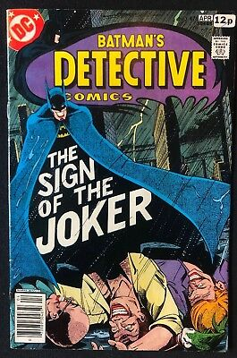 Detective Comics #476 Sign Of The Joker Good Condition