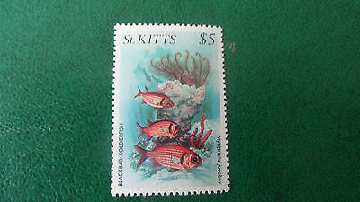 St. Kitts 1984 Sg 155 $5  Marine Wildlife. Mnh