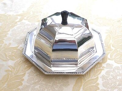 Art Deco Silver Plated 8 Sided Gadroon Rim Muffin Dish And Lid    1390642/649