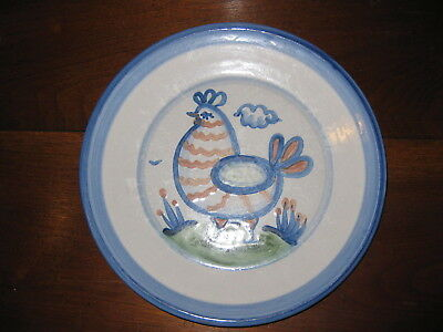 Hadley Ware Dinner Plate 11 inches  Rooster Chicken - Old MA Hadley Signature