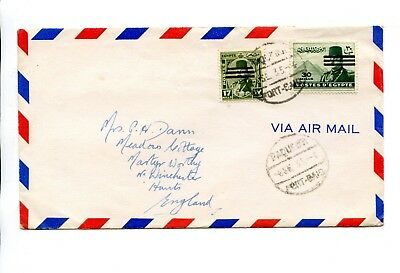 Airmail Sent From Egypt To Winchester In 1935 Port Said Paquebot Cancel