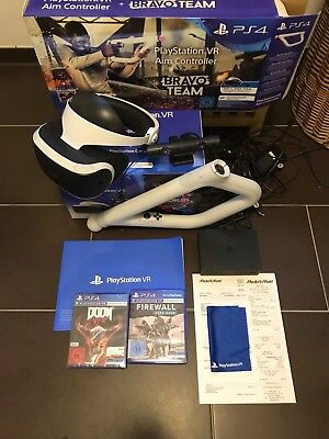 Sony PlayStation VR Headset 2.0 + Aim Controller + 2 Spiele für PS4 *In OVP*