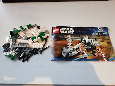 Lego Star Wars Clone Trooper Battle Pack 7913 Box And Instructions