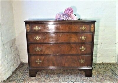 Late Georgian Mahogany Chest of Drawers - Feathered Veneer and Inlay