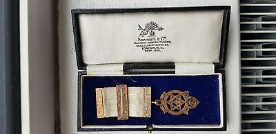 Masonic royal arch chapter Breast Jewel Companion.Halmarked.